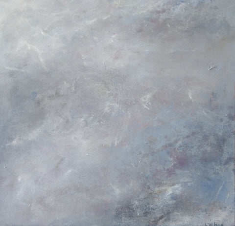 Standing in a Cloud, Acrylic Abstract painting.