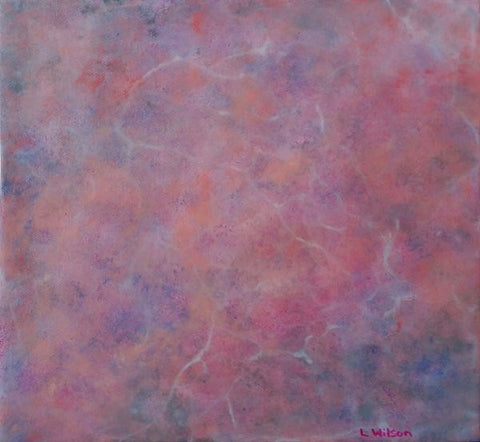 Candy Floss Cloud, Acrylic abstract painting