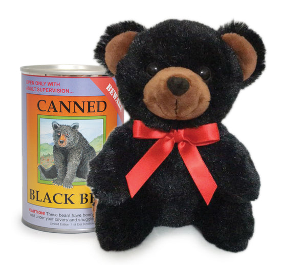 "6"" Canned Black Bear"