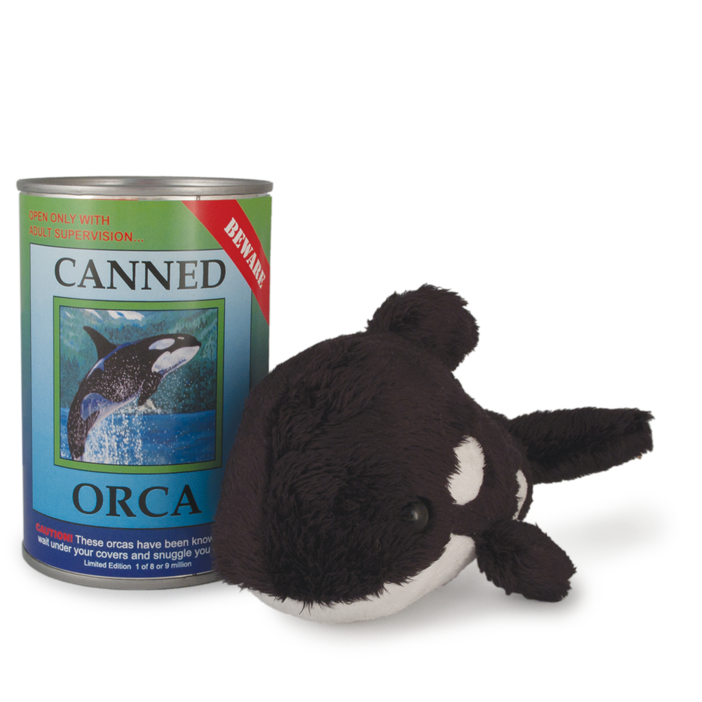"6"" Canned Orca Killer Whale"