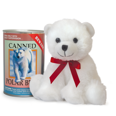 "6"" Canned Polar Bear"