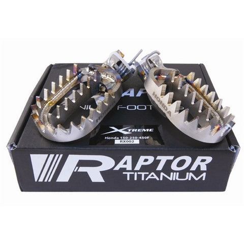 Raptor Titanium Footpegs Honda