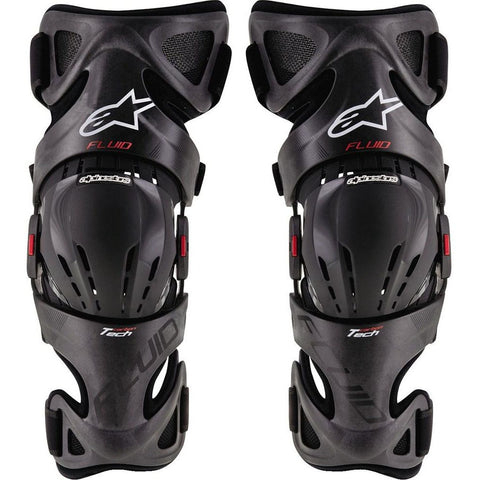 Alpinestars Fluid Tech Carbon Knee Braces Pair - ESB Motocross