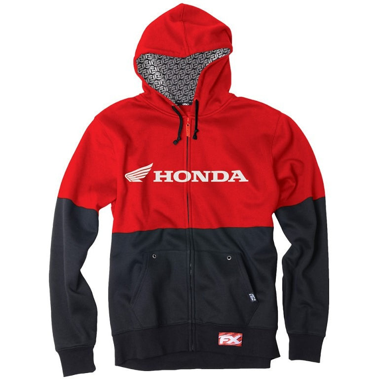 Factory Effex Honda Double Zip-Up Hoodie