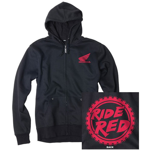 Factory Effex Honda Ride Red Moto Zip-Up Hoodie