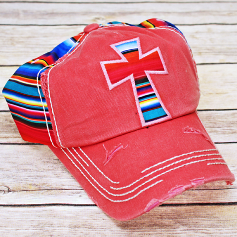 Cross Serape Hat - A Little Bit of Bling and More