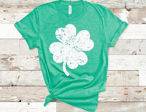 Distressed Shamrock Tee