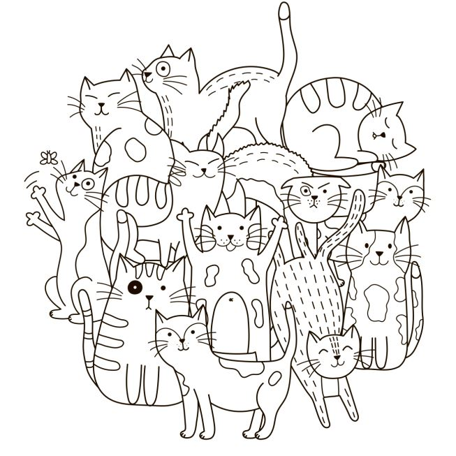 Cat #1 Coloring Poster