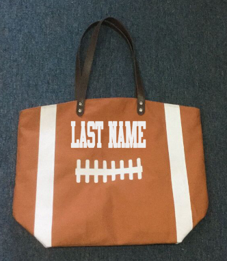Football Tote - A Little Bit of Bling and More