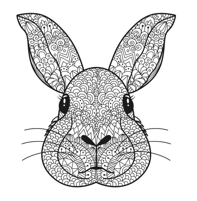 Rabbit #1 Coloring Poster