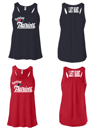 Patriots Flowy Tank - A Little Bit of Bling and More