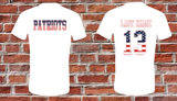 Patriots ADULT Unisex Tee - A Little Bit of Bling and More