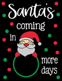 Christmas Countdown Dry Erase Board