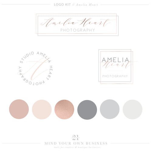 Logo Kit - Amelia Heart