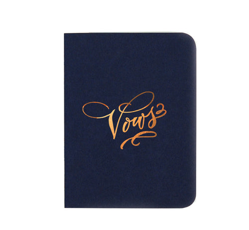 Vows Gold Foil Notebook - Navy