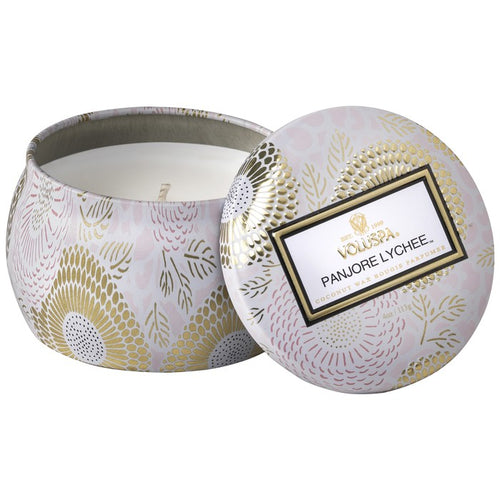 Panjore Lychee - Petite Decorative Tin Candle - Voluspa