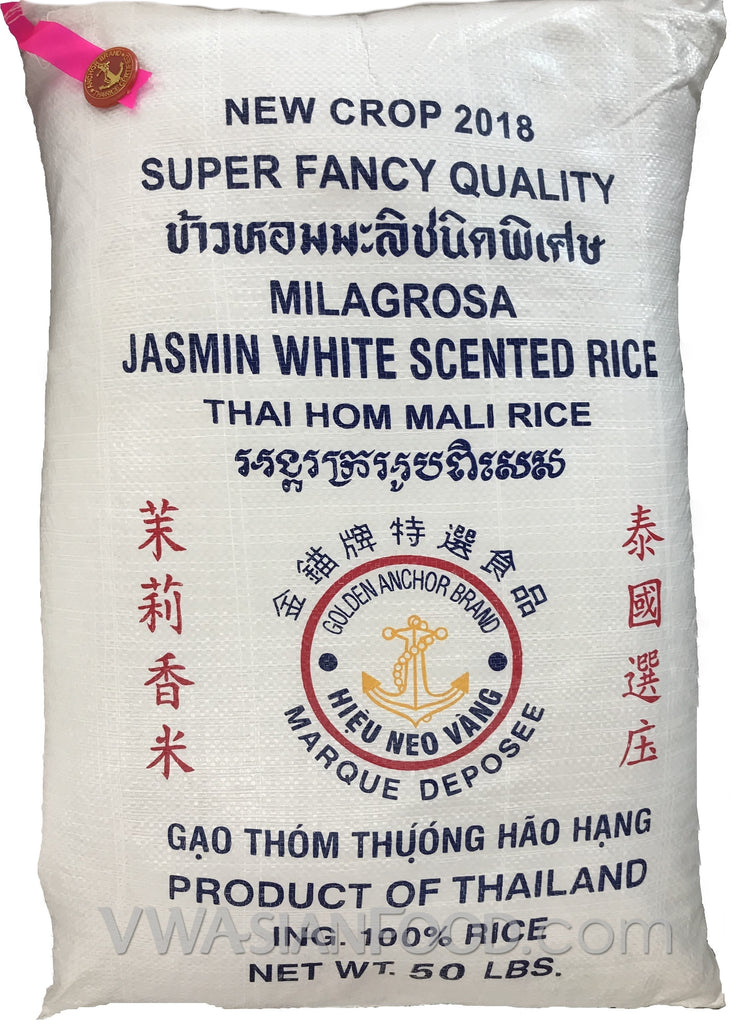 Golden Anchor Jasmine Rice, 50-Pound Bag