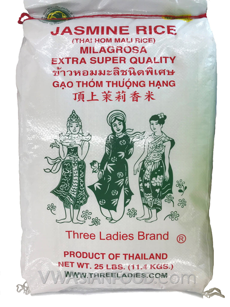 Three Ladies Jasmine Rice, 25-Pound Bag