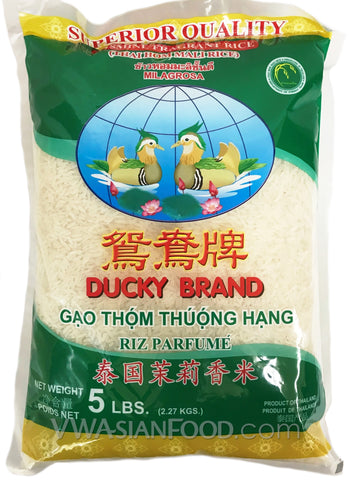 Ducky Jasmine Rice, 5-Pound Bag (10-Count)