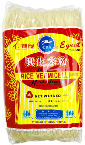Egret Hsinhua Rice Vermicelli (Large), 16 oz (60-Count)