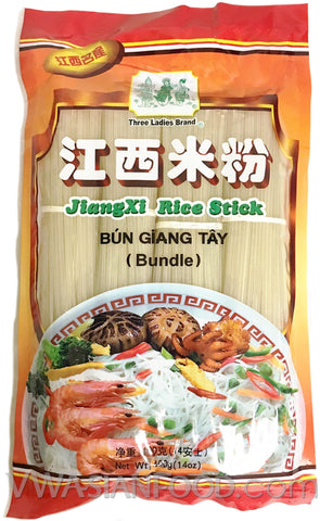 Three Ladies Jianxi Rice Stick Bundles (Bun Giang Tay), 14 oz (60-Count)