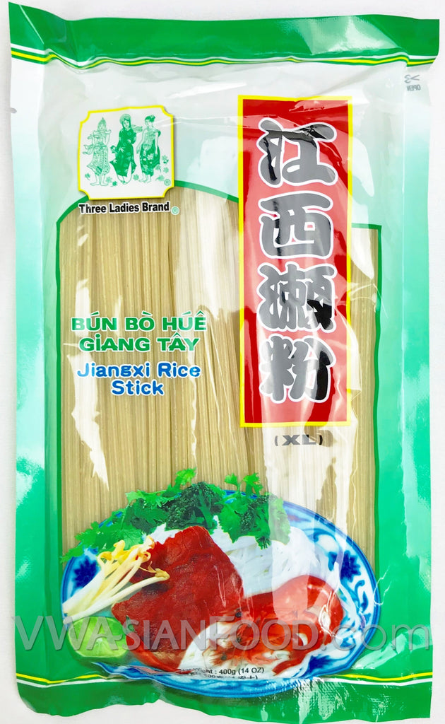 Three Ladies Jiangxi Rice Stick XL Thick (Bun Bo Hue), 14 oz (60-Count)