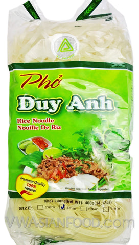Duy Anh Pho Rice Noodle (4mm Size), 14 oz (30-Count)