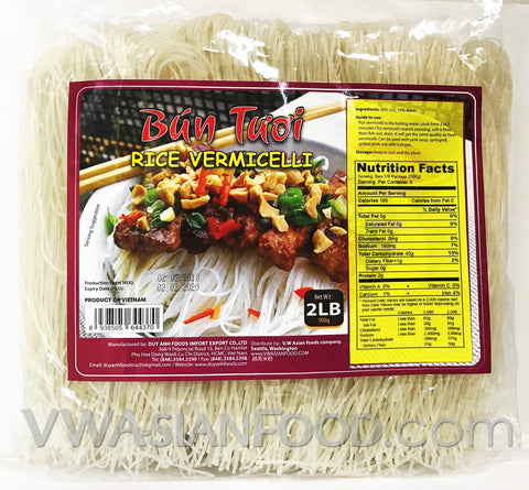 Duy Anh Bun Tuoi Rice Vermicelli Noodle, 32 oz (12-Count)