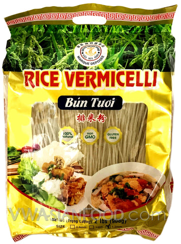Golden Anchor Rice Vermicelli 1.2MM (Bún Tươi) 2 LB (12-Count)