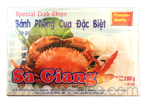 Sa Giang Cracker Chips Crab 7 oz (55- Count)