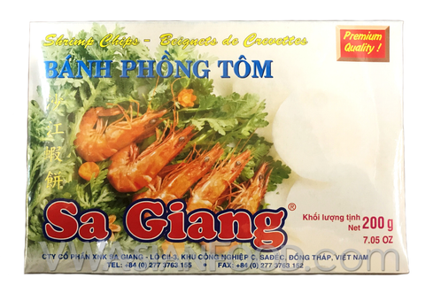 Sa Giang Cracker Chips Shrimp 7 oz (55- Count)