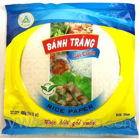 Duy Anh Rice Paper Banh Trang Goi Cuon (Bag), 14 oz (40-Count)