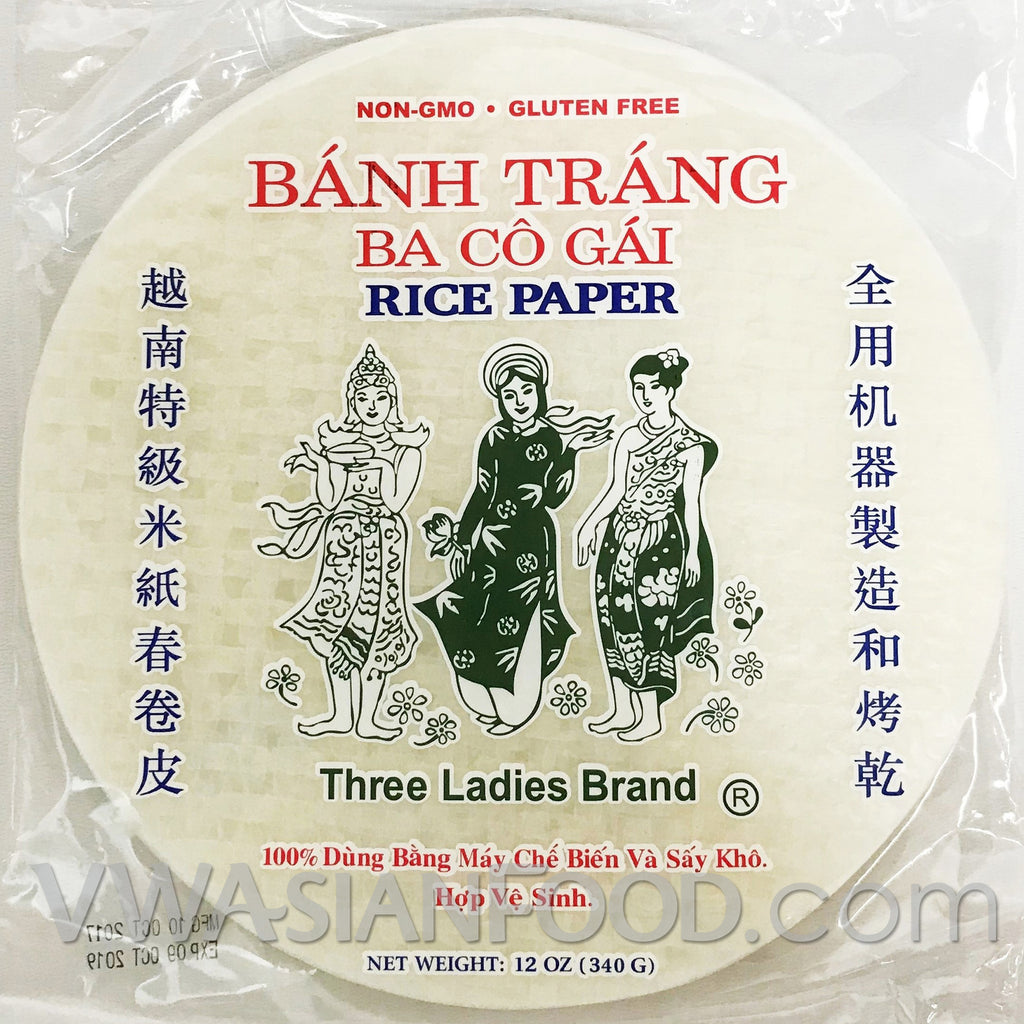 Three Ladies Rice Paper (Bag-22cm), 12 oz (44-Count)