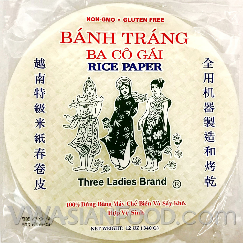 Three Ladies Rice Paper (Bag-25cm), 12 oz (44-Count)
