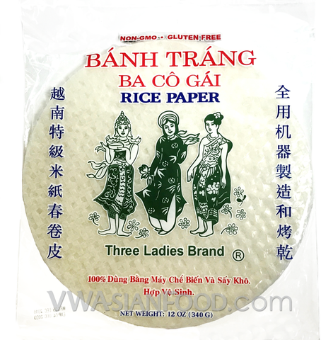 Three Ladies Rice Paper (Bag-28cm), 12 oz (44-Count)