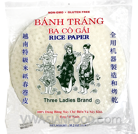 Three Ladies Rice Paper (Bag-25cm), 35.2 oz (20-Count)