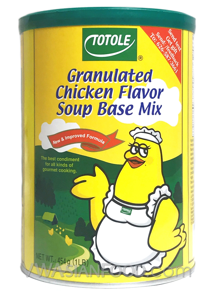 Totole Granulated Chicken Flavor Soup Base Mix, 1-Pound Can (24-Count)