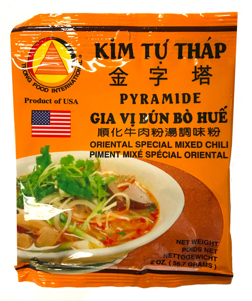 KTT Mixed Chili Powder (Gia Vi Bun Bo Hue) 2 oz (50-Count)