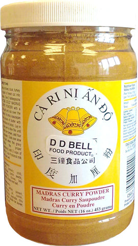 DD Bell Madras Curry Powder, 16 oz (12-Count)