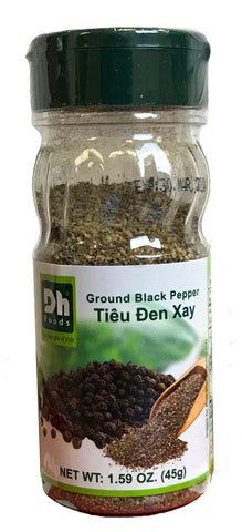 DH Foods Ground Black Pepper, 1.58 oz (48-Count)