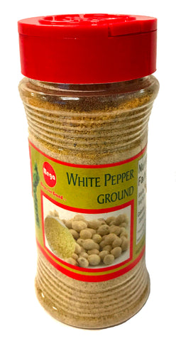 Mega White Pepper Ground, 5.2 oz (24-Count)