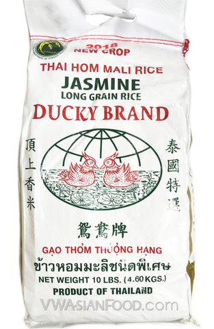 Ducky Jasmine Rice, 10-Pound Bag (5-Count)