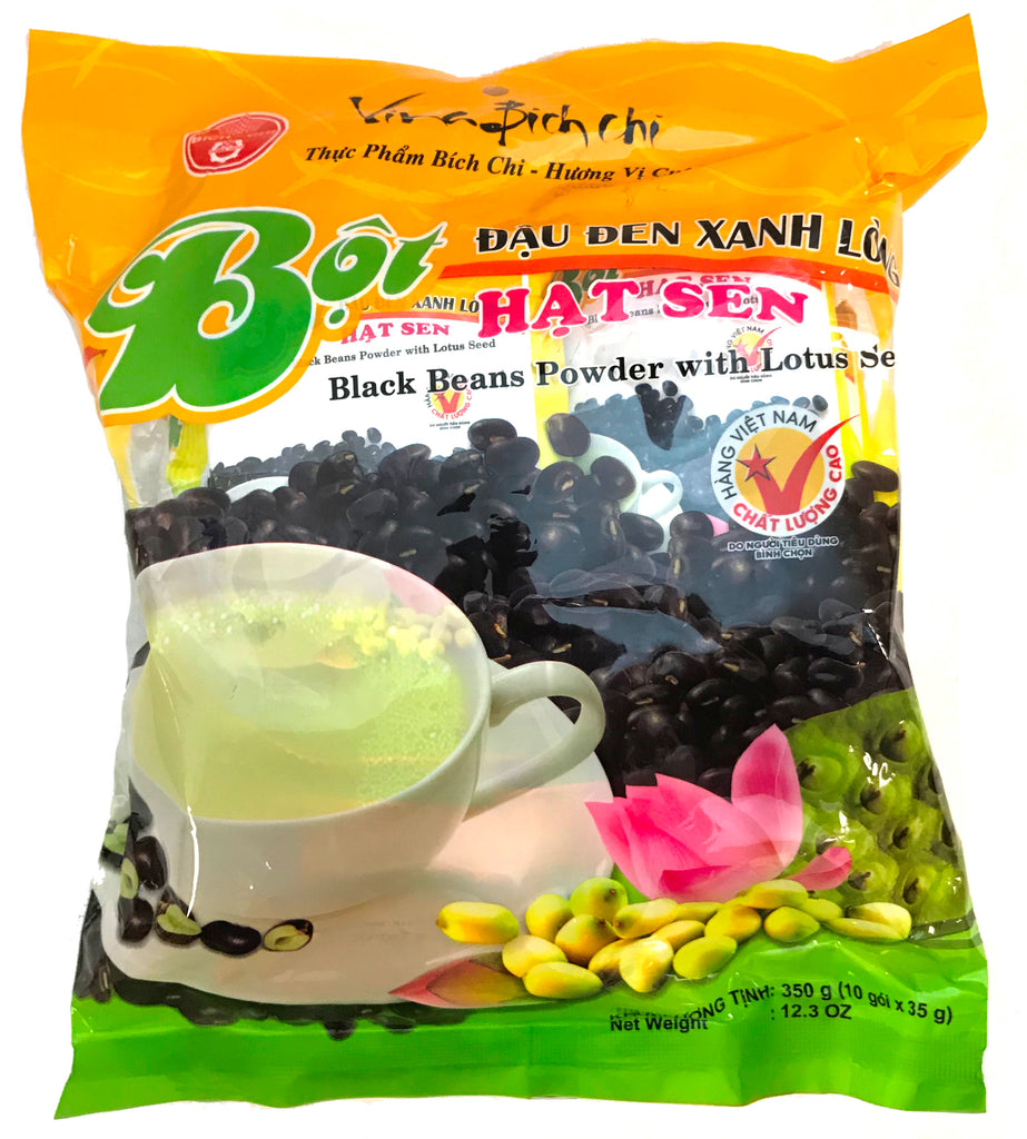 Vina Bich Chi Black Beans Powder with Lotus Seed, 1.23 oz (10-Count)