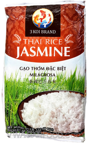 3 Koi Jasmine Rice, 50-Pound Bag