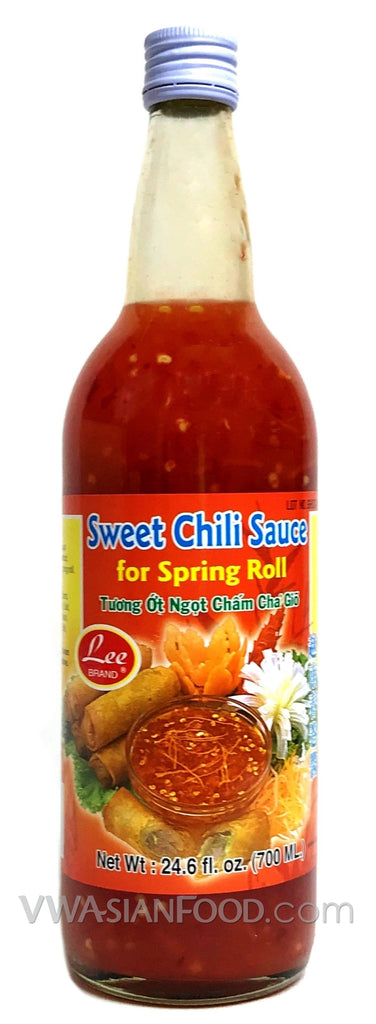 Lee Sweet Chili Spring Roll Sauce, 24.6 oz Bottle (12-Count)