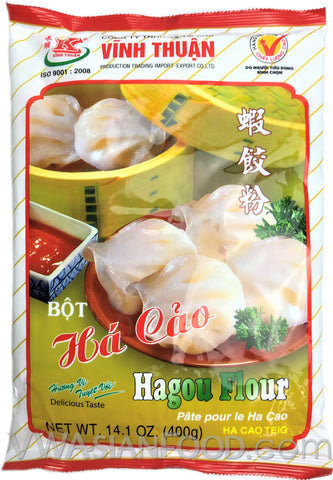 Vinh Thuan Steamed Shrimp Cake Flour (Bot Ha-Cao), 14 oz (20-Count)