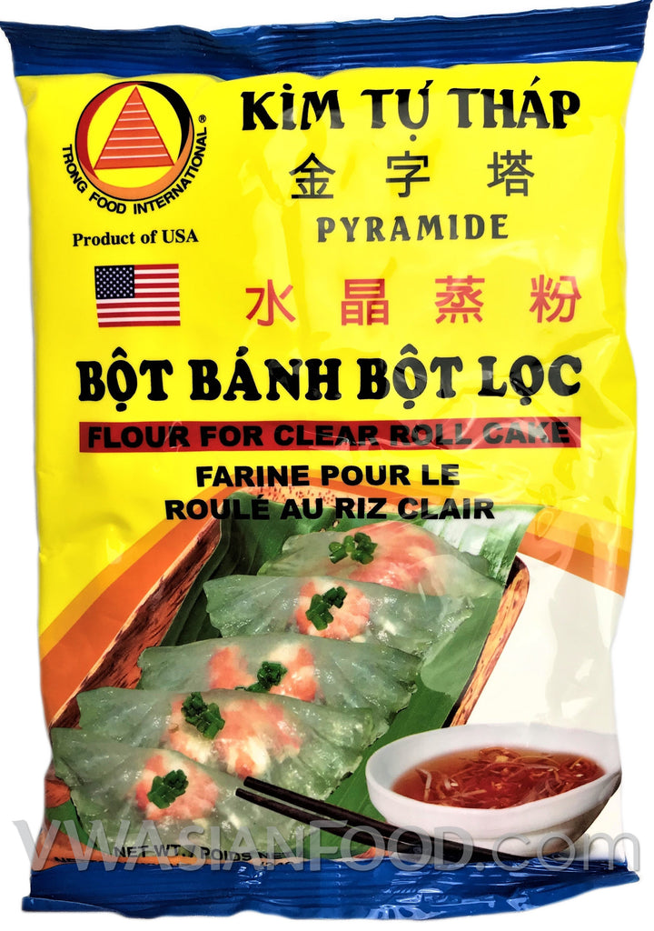 KTT Flour for Clear Roll Cake (Bot Banh Bot Loc), 12 oz (50-Count)