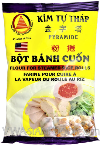 KTT Flour for Steamed Rice Rolls (Bot Banh Cuon), 12 oz (50-Count)