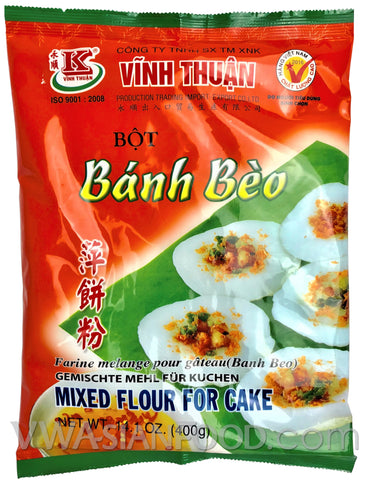 Vinh Thuan Mixed Flour for Cake (Bot Banh Beo), 14 oz (20-Count)
