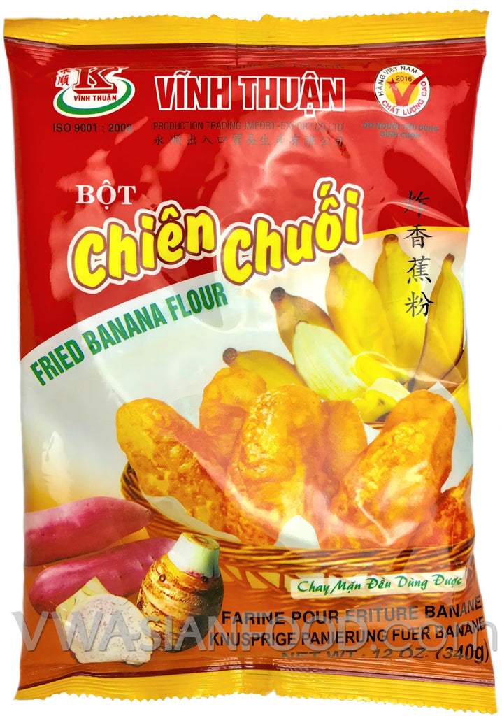 Vinh Thuan Fried Banana Flour (Bot Chien Chuoi), 12 oz (30-Count)